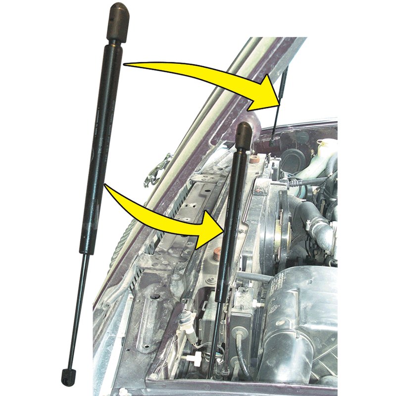 Motorkap gas stut NIEUW BEC19809