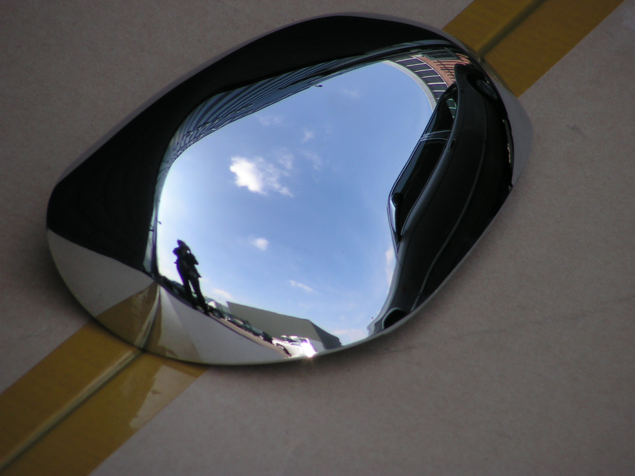 Jaguar X-type spiegel achterbekleding chroom rechts nieuw