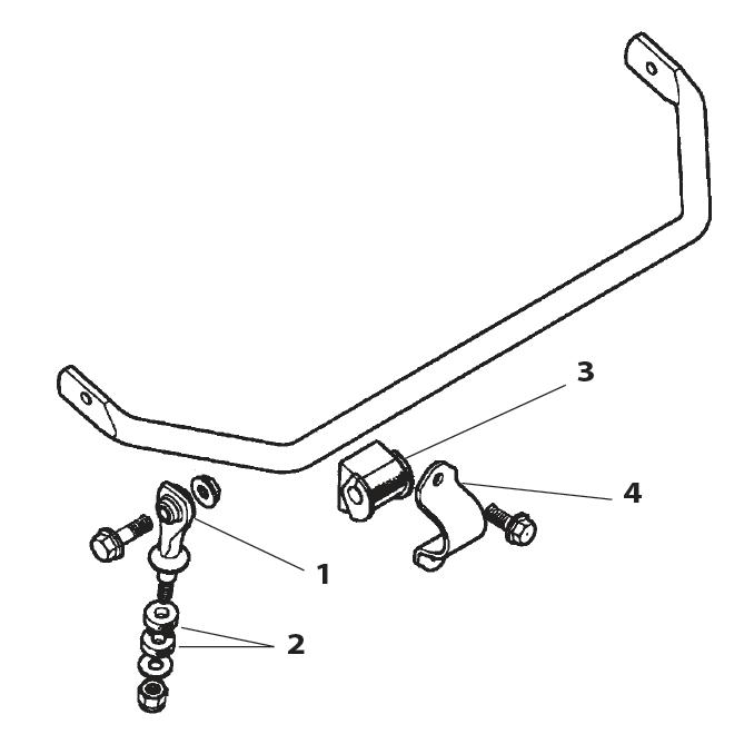 Jaguar S-type Stabilisator stang voor